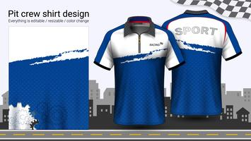 Polo t-shirt med dragkedja, Racing uniformer mockup mall för aktivt slitage och sportkläder.