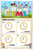 Arbeitsblatt für das Mathematik-Zeitkapitel