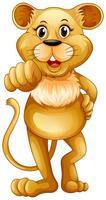 Söt lejon står ensam