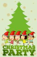 Barn som sjunger jullåtar vektor