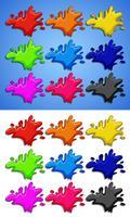 Eine Reihe von Farbspritzer vektor