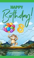 Grattis på födelsedagskortet för åtta år gammal