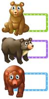 Polkadot-Etiketten mit Bären