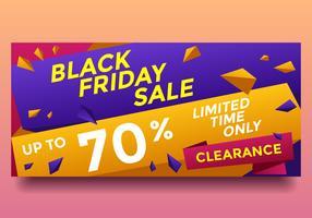 Svart fredag Clearance Sale Banner Vector