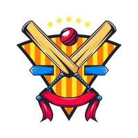cricket championship crest med banner