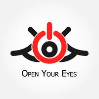Öppna dina ögon (slå på / av symbol) vektor