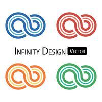 Sats med färgstark oändlighet symbol