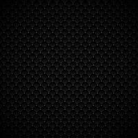Abstraktes schwarzes geometrisches Quadratmusterluxusdesign mit silbernen Punkten auf dunklem Hintergrund. Luxuriöse Textur. kohlenstoffmetallische Oberfläche.
