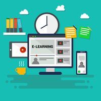 Ikonisk E-Learning Vector