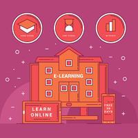 Set av E-Learning Vector