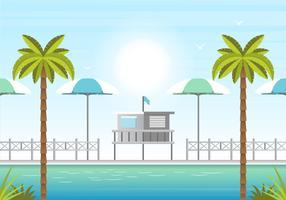 Vektor-Sommerzeit-Illustration vektor