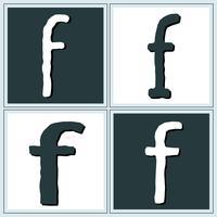letterf vektor