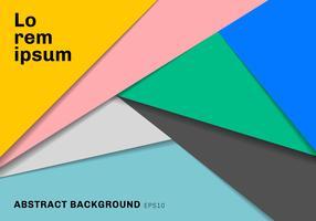 Mehrfarbenpapier der geometrischen Dreiecke der Schablone schnitt mit Schattenhintergrund.