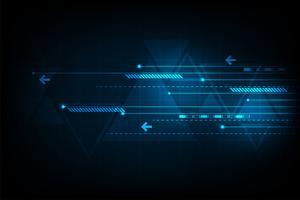 Vektor bakgrund representerar digital rörelse.