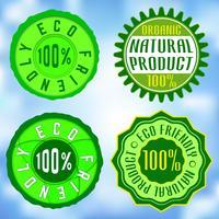 Sats med ekologiska frimärken vektor