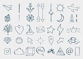 Doodles olika element
