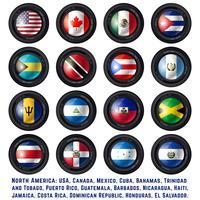 Nordamerika flaggor