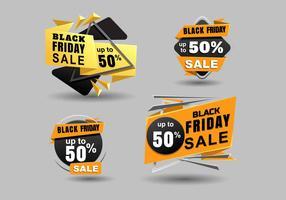 Svart Friday Sale Banner Vector