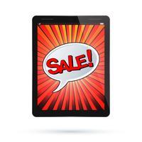Tablet sälj vektor
