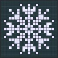 Schneeflockenspieldesign vektor