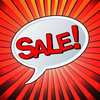Försäljning text bubbla vektor