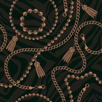 Sömlöst mönster av kedjor