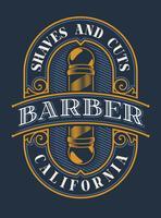 Färgad bokstäver för barberaren