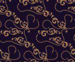 Seamless mönster av barockelement och kedjor vektor