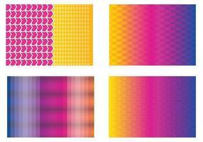 Färgglada Funky Vector Bakgrunder
