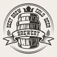 Abzeichen mit einem Fass Bier