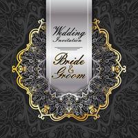 Hochzeitseinladungskarte Papierschnitt Design vektor