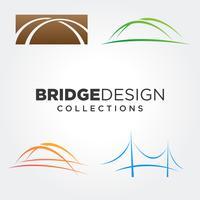 Brückensymbol-Design-Sets vektor