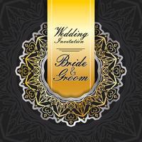 Hochzeitseinladungskarte Papierschnitt Design