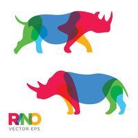 Creative Rhinoceros Animal Design, Vector eps 10