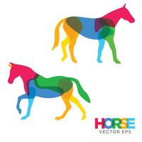 kreativ häst djur design, vektor eps 10