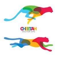 kreativ cheetah djur design, vektor eps 10