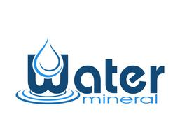 Logo Mineralwasser Vektor-Illustration