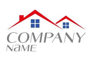 Logo Haus zu verkaufen Vermietung oder Wohneigentum Vektor-Illustration