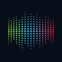 Musik-Logokonzeptschallwelle, Audiotechnik, abstrakte Form vektor
