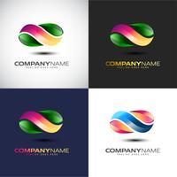Abstrakt 3D Infinity-logotypmall för ditt företags varumärke