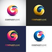 Abstrakte Logo-Schablone des Buchstabe-G 3D für Ihre Firmenmarke vektor