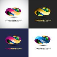 Abstrakte Logo-Schablone der Unendlichkeits-3D für Ihre Firmenmarke