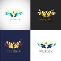 Abstrakte Logo-Schablone des Schmetterlinges 3D für Ihre Firmenmarke vektor
