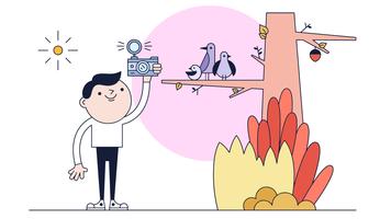 Vogelbeobachtung Vektor