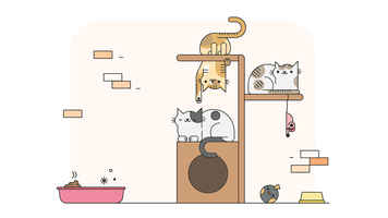 Katzen Spiel Vektor