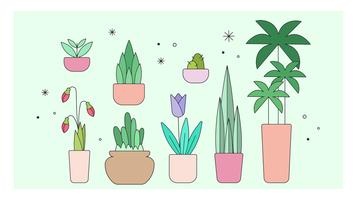 Dekorativa Växter Vector