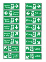 Türkische Beschilderungsmodelle, Warnschild, Verbotsschild, Arbeitsschutzzeichen, Warnschild, Brandnotschild. Für Aufkleber, Plakate und andere Materialien. leicht zu ändern. Vektor.