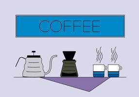 Gratis Kaffeset Vektor