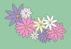 Gratis blommor vektor