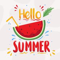 Hallo Sommervektor vektor